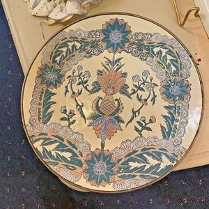 """Collectible decorative plate 8"""" Andrea by Sadek"""